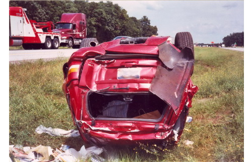 Red Car Wreck
